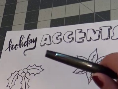 Holiday Doodle Tutorial - Christmas Accents