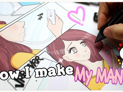 ♡ HOW I MAKE A PAGE OF MY MANGA!!!!!!♡