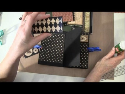 How to build a photo mini album with G45 Olde Curiosity Shoppe paper collection Part 9