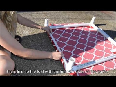 How to build a PVC Dog Bed