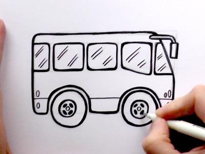 How to Draw a Cartoon Bus