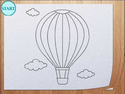 How to draw air balloon