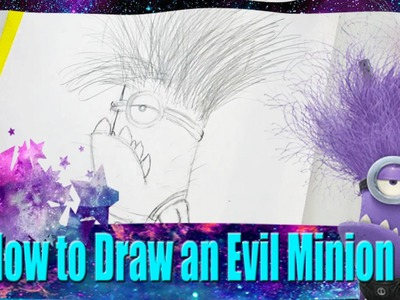 How to Draw an Evil Minion from Dreamwork's Despicable Me 2 - @DramaticParrot