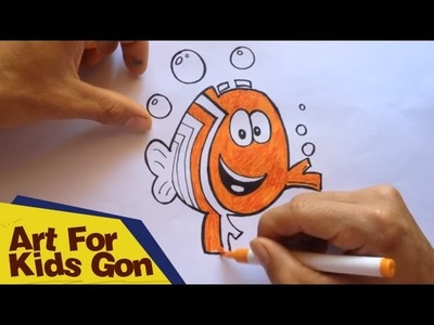 How To Draw Bubble Guppies - Draw And Color