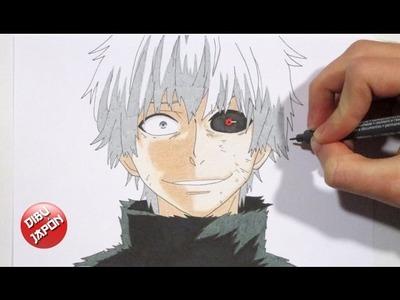 How to draw Kaneki Ken. Cómo dibujar a Kaneki Ken [Tokyo Ghoul]