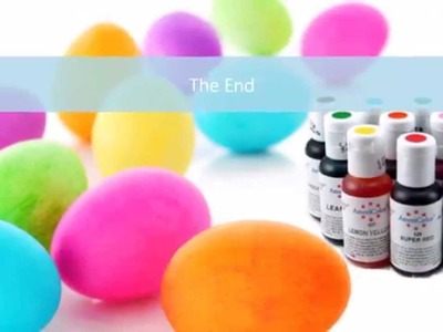 How to Dye or Color Easter Eggs with Food Coloring and Stickers