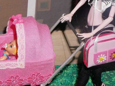 How to make a baby diaper bag for doll (Monster High, MLP, EAH, Barbie, etc)