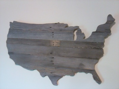 How to Make a Wooden USA Map Wall Art out of Pallet