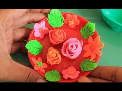 How to Make Play doh Flowers | Play-Doh Roses Kids' Toys