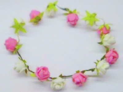 How to make Rose Tiara. headband