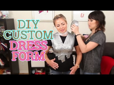 How To Make Your Own Custom Dress Form. DIY DUCT TAPE DRESS FORM!