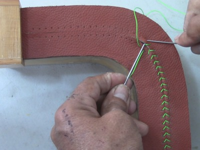 LEATHER UPHOLSTERY-Stitches on a Rounded Corner-TUTORIAL