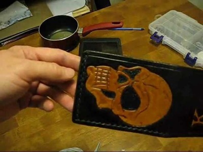 Making a leather wallet for Kousins Kustoms