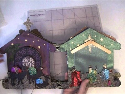 Mini album. Christmas crib