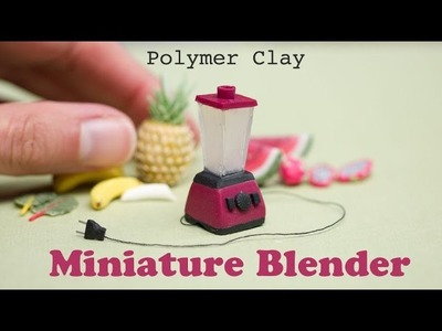 Miniature Blender from Polymer Clay. Blendtec Inspired