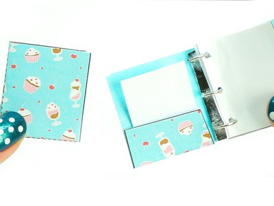Miniature dollhouse school binder - really works tutorial - school supplies l Dollhouse DIY ♥
