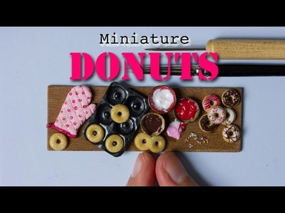 Miniature Donuts, Donut Pan and Oven Mitten. Polymer Clay Miniature Food