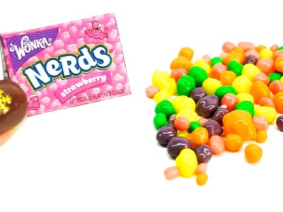 Miniature nerds candy l how to make nerds candy tutorial REAL nerds l  Dollhouse DIY ♥