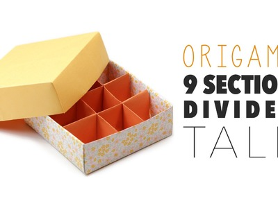 Origami 9 Section Box Divider - TALL VERSION