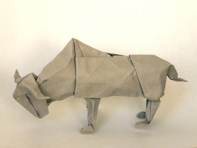 Origami buffalo by Lionel Albertino