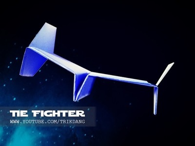 PAPER PLANES - How to make a cool paper airplane that Flies | STAR WARS Tie Fighter