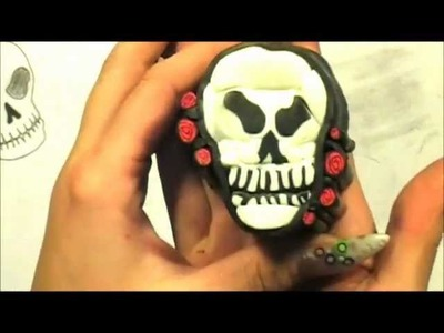 Part Two skull cane tutorial for nail art with STAEDTLER Fimo
