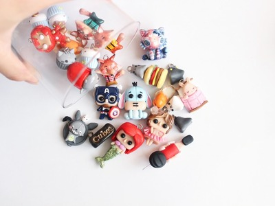 Polymer Clay Charms Update #10 : Peanuts , Gudetama etc