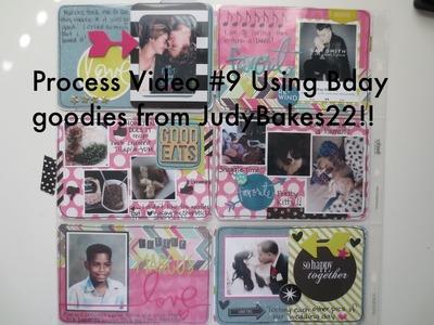 Project Life Process Vid #9 using bday goodies from JudyBakess 22!! :)