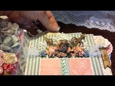 SaCrafters G45 Botanical Tea Mini Album Address Book for Linda FaythChik777
