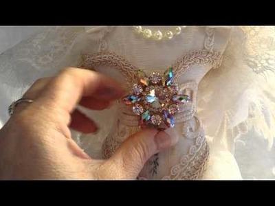 Shabby Chic Altered Dressform for Tresors de Luxe