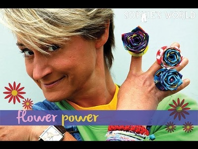 Sophie's World:  Duct Tape Flower Ring