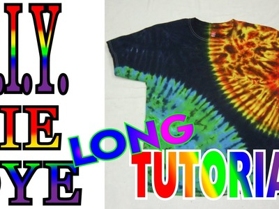 Sun and Earth Tie Dye Shirt [Long Tutorial] #53