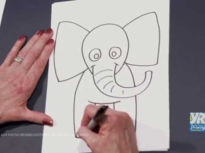 Teaching Kids How to Draw: How to Draw a Cartoon Elephant