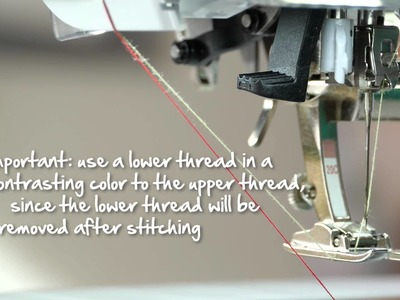 Tutorial: how to sew fringes and hemstitches with the BERNINA tailor tack foot no. 7