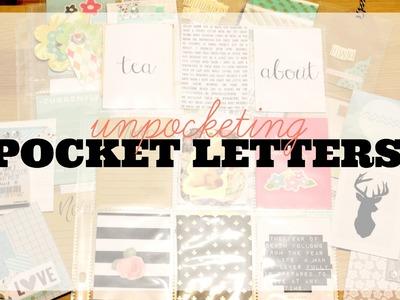 Unpocketing: POCKET LETTER IDEAS