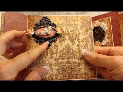 Vintage 6x6 Mini Album for Julie ThriftyPaperGarden