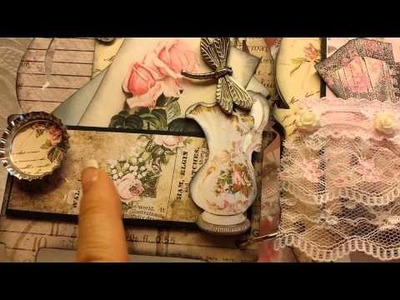 Vintage Dresser Mini Album for Kittys Scrap Post DT