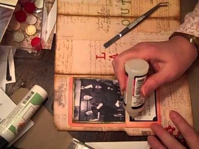 Working on my Vintage Inspirationial Junk Mini Album
