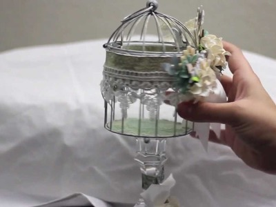 Altered Bird cage. Prima Fairy Belle. Shabby chic crafters swap.