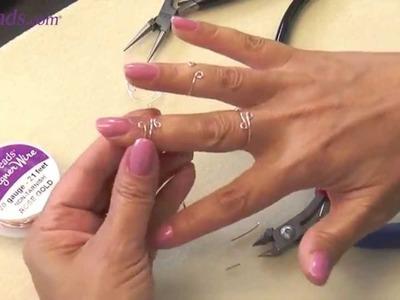 Artbeads MiniVid - Wire Midi Knuckle Rings