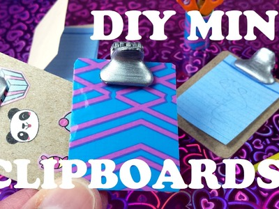 DIY Miniature Working Doll Clipboards