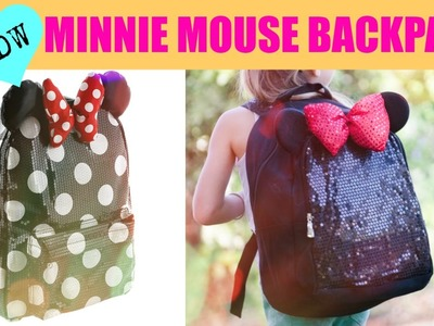 DIY Minnie Mouse Backpack Under $15!
