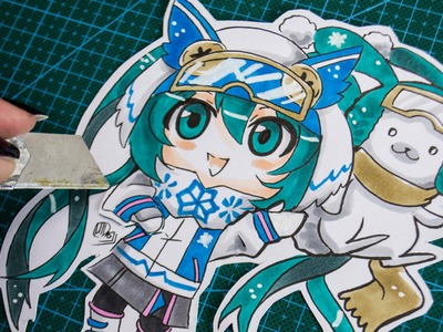 Drawing Snow Miku 2016 with FREE DOWNLOAD