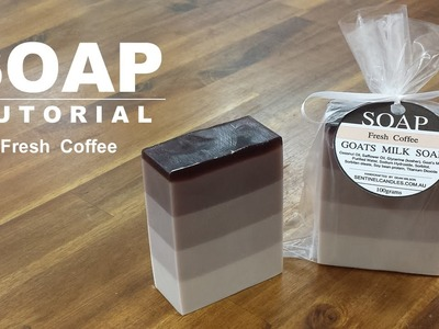Fresh Coffee, Melt and Pour Soap Tutorial