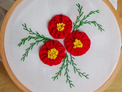 Hand Embroidery: Yo-yo flowers