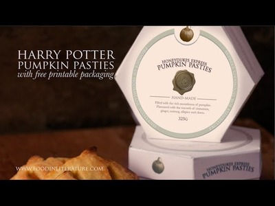 Harry Potter Pumpkin Pasties recipe with free printable packaging | Food in Literature