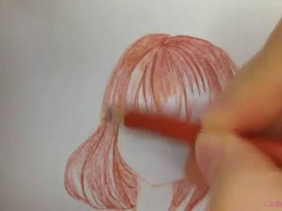 How to draw manga girl hair for beginners