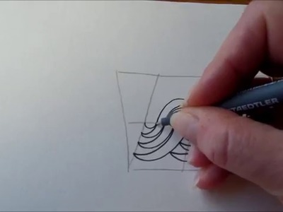 How to draw tanglepattern Ududu
