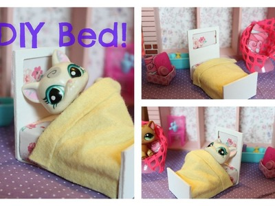 How to make an LPS bed Littlest pet shop bed | Easy LPS Crafts