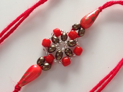 How to make beaded rakhi (bracelet)